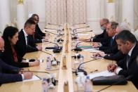 Russian Foreign Minister Lavrov meets his Hungarian counterpart Szijjarto in Moscow
