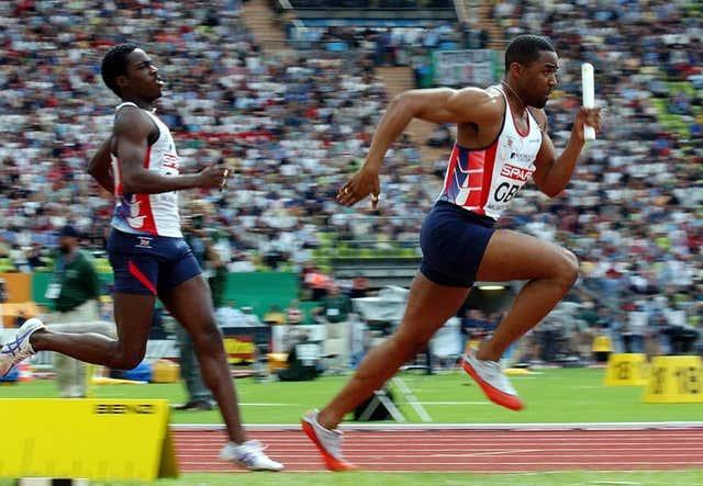 Darren Campbell (right) will work again with his former relay team-mate Christian Malcolm