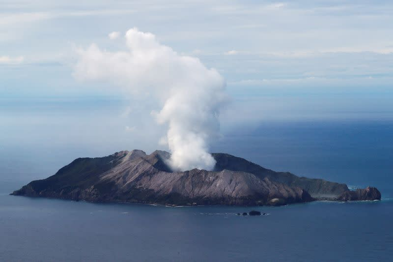 FILE PHOTO: An aerial view of the Whakaari, also known as White Island volcano, in New Zealand