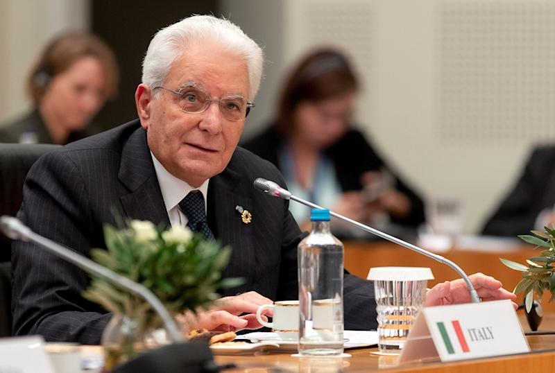 Italian President Sergio Mattarella attends the 15th informal meeting of the Arraiolos Group Heads of State in Athens, Greece October 11, 2019. Presidential Palace/Paolo Giandotti/Handout via REUTERS THIS IMAGE HAS BEEN SUPPLIED BY A THIRD PARTY.