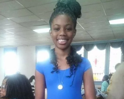 Pictured is Sylvia McGee, 14. Source: GoFundMe