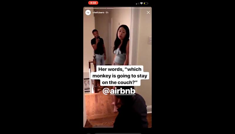 Airbnb host calls black guest 'monkey' in viral video