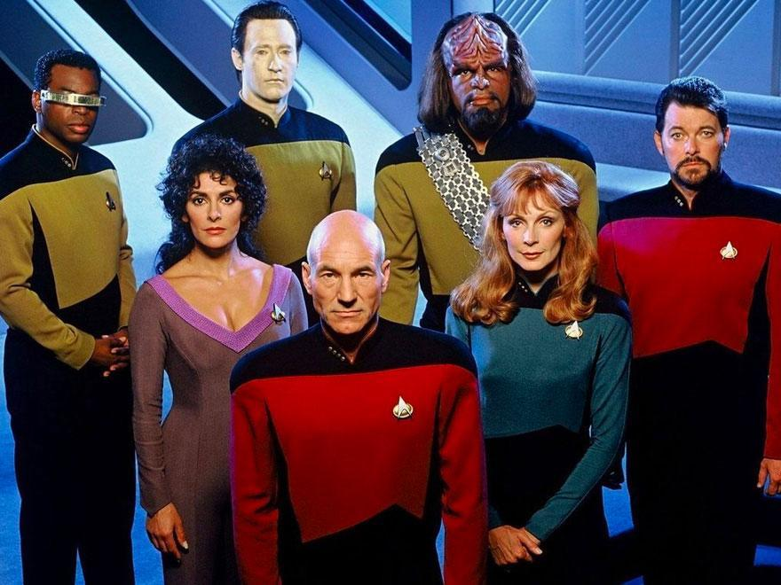 The cast of <i>Star Trek: The Next Generation</i> (CBS)