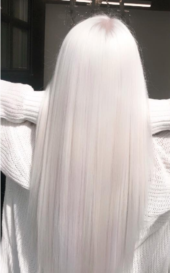 """Take platinum even lighter with <a href=""""https://www.glamour.com/story/nordic-white-hair-color?mbid=synd_yahoo_rss"""" rel=""""nofollow noopener"""" target=""""_blank"""" data-ylk=""""slk:Nordic white hair"""" class=""""link rapid-noclick-resp"""">Nordic white hair</a>, which is full-on icy white. If you dare to try this shade, make sure to do your research and choose a stylist you really trust, since it can be very damaging and take up to eight hours to get right. If you ask us, though, it's worth the effort."""