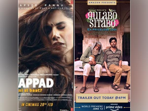 Posters of 'Thappad' and 'Gulabo Sitabo'