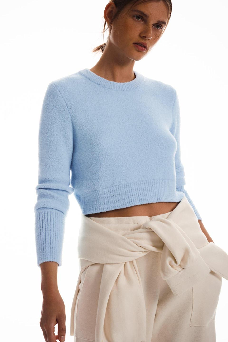 <p>This <span>Zara Soft Feel Cropped Sweater</span> ($40) is so soft and cozy. It feels like a warm hug, and once you try it on, you'll never want to take it off.</p>