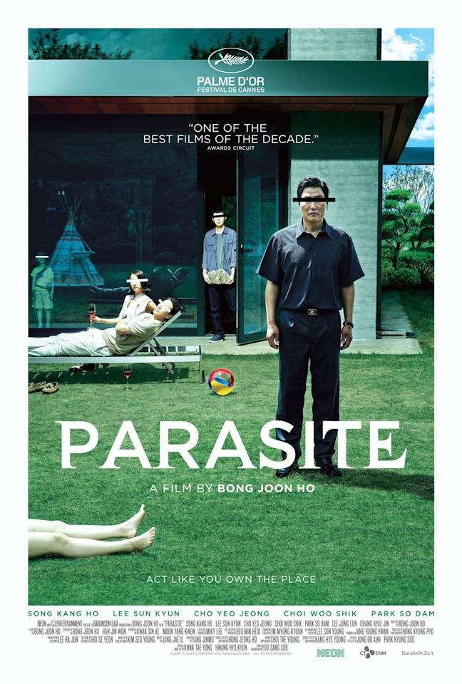 """<p>There's a reason why this black comedy thriller has earned so much international acclaim and has even become the first-ever foreign-language movie to win Best Picture. With an engrossing and genre-bending plot, <em>Parasite </em>captivates with suspenseful storytelling all throughout the film — and delivers a truly intriguing take on the powerful themes of class, violence and social inequality.</p><p><a class=""""body-btn-link"""" href=""""https://www.amazon.com/Parasite-English-Subtitled-Kang-Song/dp/B07YM14FRG?tag=syn-yahoo-20&ascsubtag=%5Bartid%7C10055.g.33446615%5Bsrc%7Cyahoo-us"""" target=""""_blank"""">WATCH ON AMAZON</a></p><p><strong>RELATED: </strong><a href=""""https://www.goodhousekeeping.com/life/entertainment/a30930617/what-is-parasite-about/"""" target=""""_blank"""">Here's What the Oscar-Winning Thriller 'Parasite' Is Actually About</a></p>"""