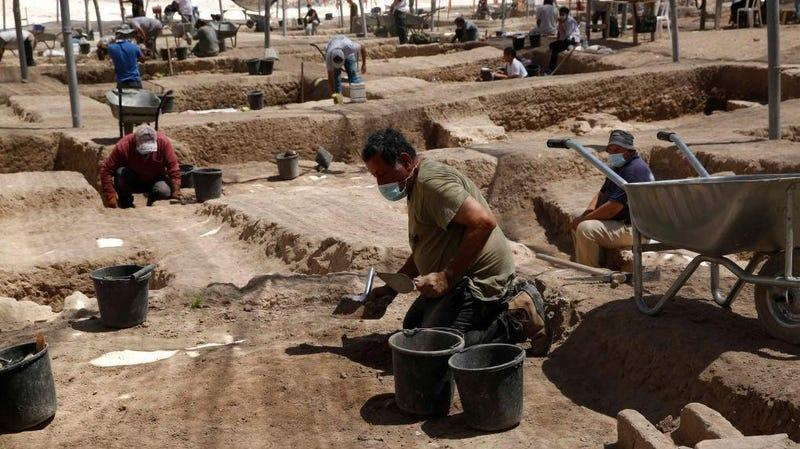 an archaeological dig in Israel