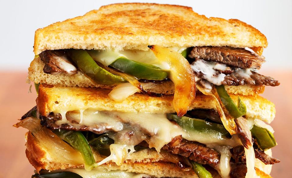 """<p>Who doesn't LOVE grilled cheese? Why not take it up a notch, though ... want to know how to make your grilled cheese into a culinary masterpiece? Transform this classic lunch staple with these creative recipe ideas. </p><p>Looking for something to help wash it all down? Look no further than these <a href=""""https://www.delish.com/food/g2164/non-alcoholic-drinks/"""" rel=""""nofollow noopener"""" target=""""_blank"""" data-ylk=""""slk:amazingly delicious non-alcoholic drinks!"""" class=""""link rapid-noclick-resp"""">amazingly delicious non-alcoholic drinks!</a></p>"""