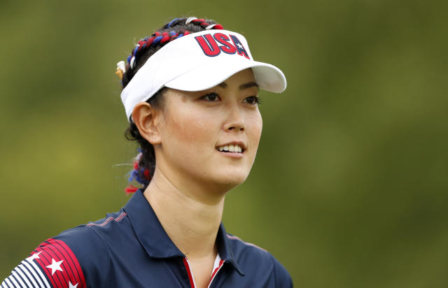 Michelle Wie gave birth to her first child on Friday. (AP Photo/Charlie Neibergall)