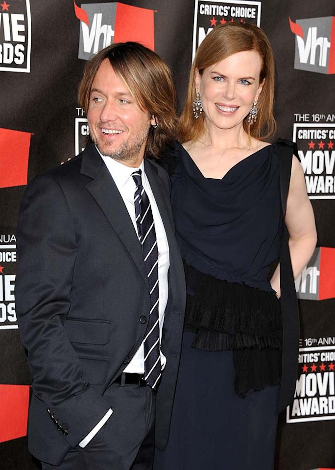"""Nicole Kidman just scored her third Oscar nomination for her harrowing performance in """"Rabbit Hole."""" The actress, who recently welcomed her second biological child via surrogate with her husband, fellow Aussie -- and top-selling country music artist -- Keith Urban, got her big break in the U.S. courtesy of her first husband Tom Cruise, who saw her in """"Dead Calm"""" and cast her as his love interest in """"Days of Thunder."""" Jon Kopaloff/<a href=""""http://filmmagic.com/"""" target=""""new"""">FilmMagic.com</a> - January 14, 2011"""