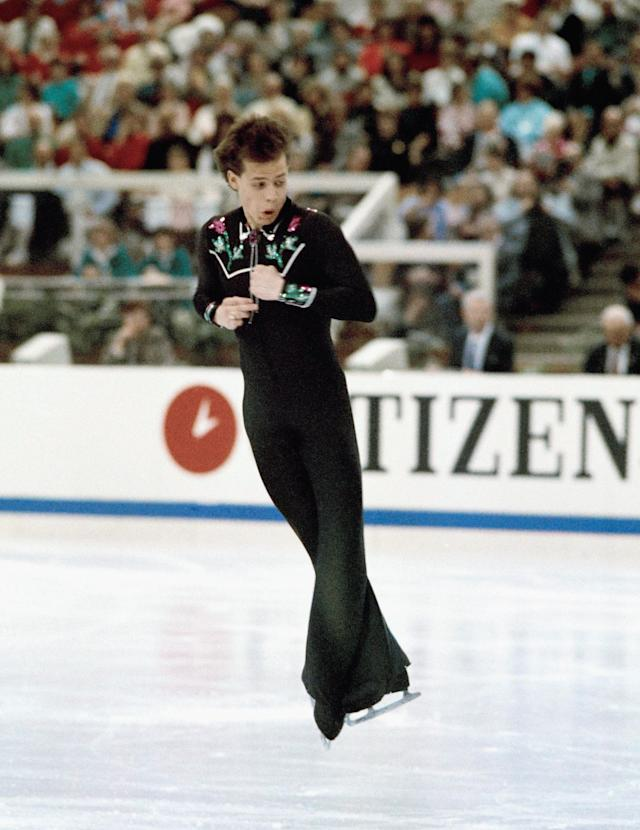 <p>Canadian Kurt Browning landed the first ratified quad jump in competition at the World Championships in Budapest, Hungary on March 25, 1988. </p>