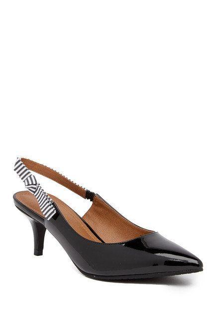 "Get them at <a href=""https://www.nordstromrack.com/shop/product/2386214/14th-union-kiera-slingback-kitten-heel?color=BLACK%20FAUX%20PATENT"" target=""_blank"">Nordstrom Rack</a> for $40."