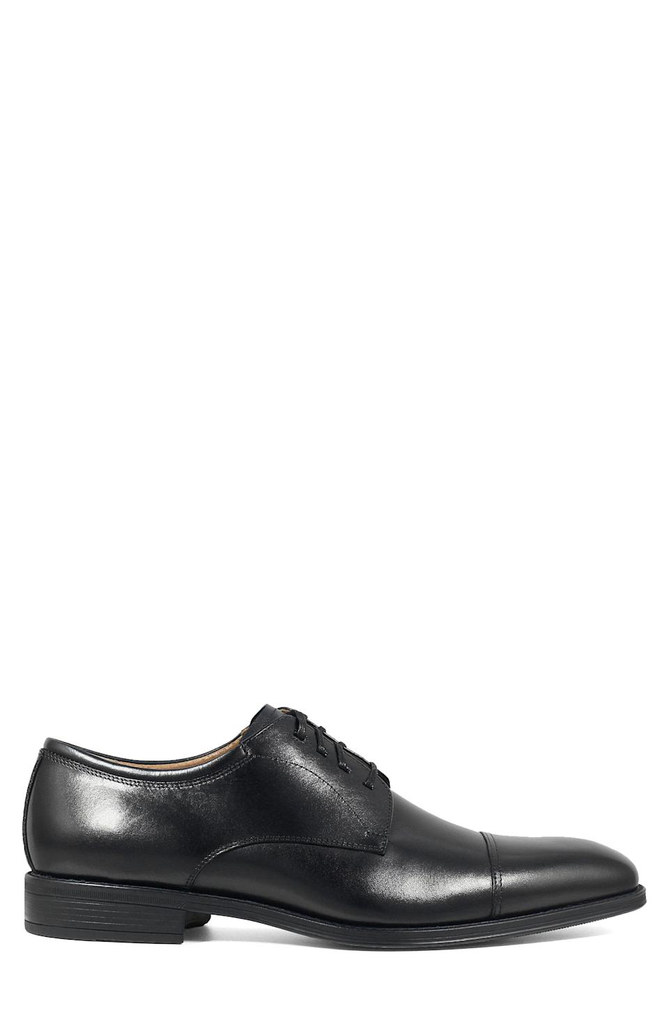 """<p><strong>FLORSHEIM</strong></p><p>nordstrom.com</p><p><strong>$99.95</strong></p><p><a href=""""https://go.redirectingat.com?id=74968X1596630&url=https%3A%2F%2Fshop.nordstrom.com%2Fs%2Fflorsheim-cardineli-cap-toe-derby-men%2F5196364&sref=https%3A%2F%2Fwww.menshealth.com%2Fstyle%2Fg19545927%2Fbest-dress-shoes%2F"""" rel=""""nofollow noopener"""" target=""""_blank"""" data-ylk=""""slk:BUY IT HERE"""" class=""""link rapid-noclick-resp"""">BUY IT HERE</a></p><p>The best assortment of dress shoes for anyone's closet includes a pair that you never have to think twice about. These cap-toe derbies are always appropriate. </p>"""