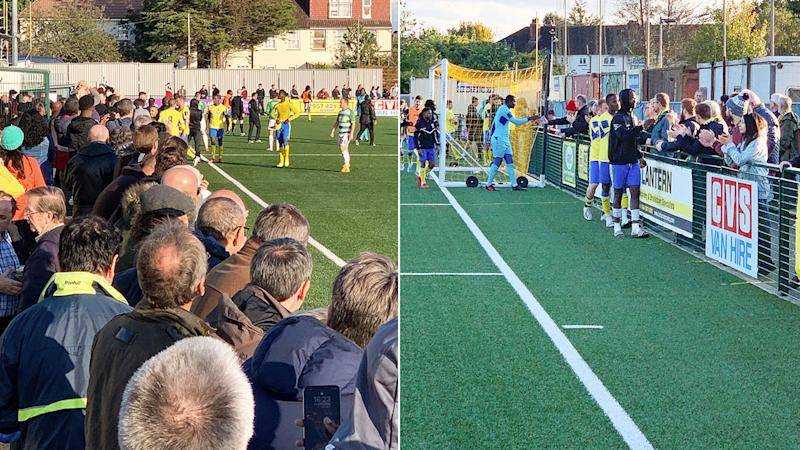 Haringey's FA Cup match against Yeovil was abandoned due to racist scenes.