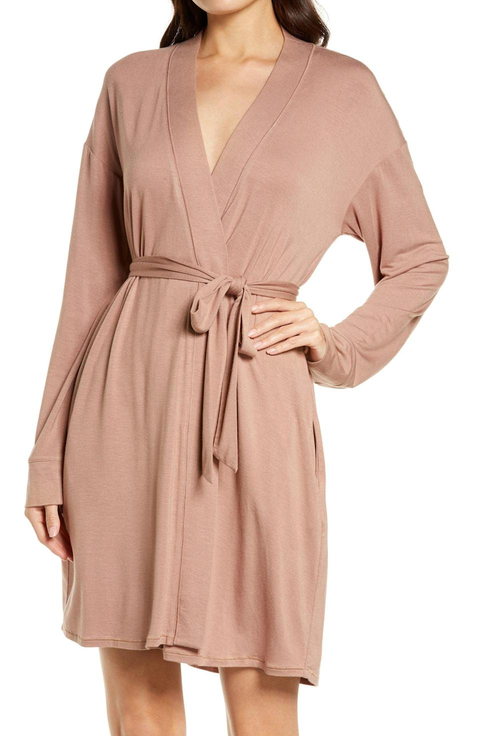 <p>The <span>Skims Sleep Knit Robe</span> ($78) is a luxurious, elegant find that will make them feel like they are royalty. It comes in a variety colors including taupe, grey, black, camel tan, talc white, and a blush rose.</p>