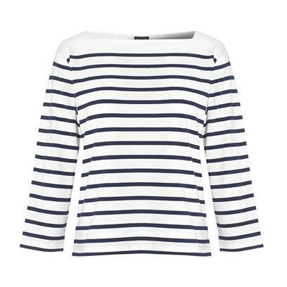 Jaeger Top: What to Wear: Weekend: Breton Tops: Fashion
