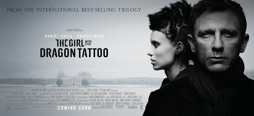 The Girl with the Dragon Tattoo starred Rooney Mara and Daniel Craig