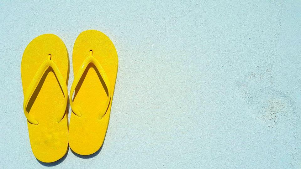 """<p>They actually can be damaging if you wear them all the time. """"Most flip-flops don't have adequate arch support, cushioning, or shock absorption,"""" Manhattan-based foot doctor Jacqueline Sutera, DPM, previously told <a href=""""https://www.womenshealthmag.com/health/a19983186/health-myths-0/"""" rel=""""nofollow noopener"""" target=""""_blank"""" data-ylk=""""slk:WH"""" class=""""link rapid-noclick-resp"""">WH</a>. Wearing them on the regular could cause pinched nerves, heel pain, tendinitis, and strained arches. </p>"""