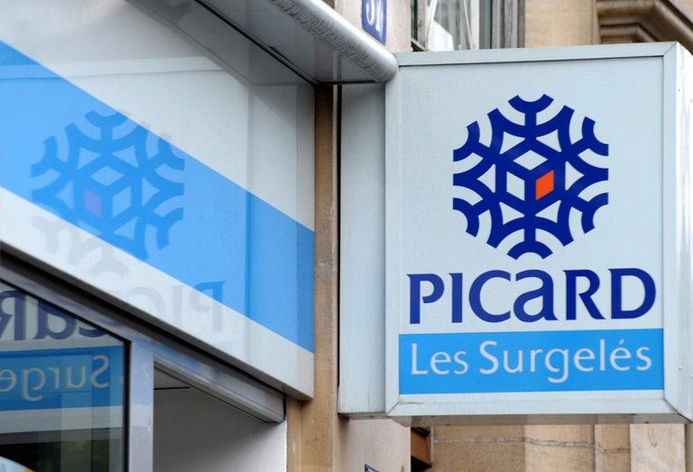 Picture taken on July 26, 2010 in Paris shows the logo of French frozen foods group Picard