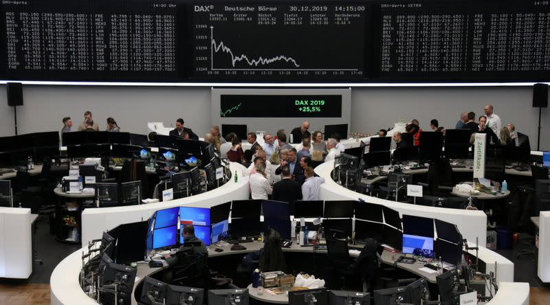 China stimulus, trade progress help European shares mark strong start to decade