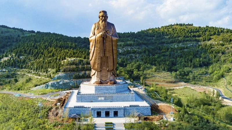 World's largest Confucius statue gets final polish as east China hometown prepares to honour ancient sage