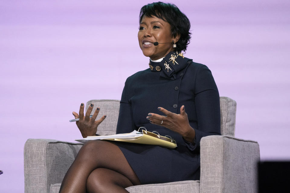 Mellody Hobson seen on day one of Summit LA19 in Downtown Los Angeles on Friday, Nov. 9, 2019, in Los Angeles. (Photo by Amy Harris/Invision/AP)