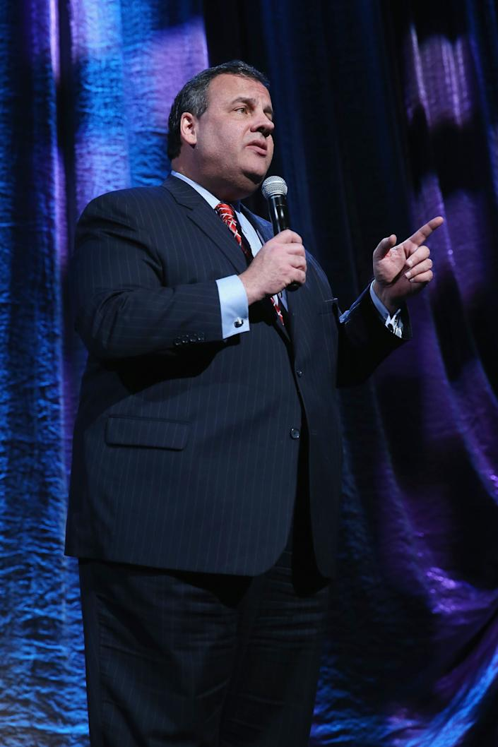 NEW YORK, NY - JANUARY 31:  New Jersey Governor Chris Christie speaks onstage at 'Howard Stern's Birthday Bash' presented by SiriusXM, produced by Howard Stern Productions at Hammerstein Ballroom on January 31, 2014 in New York City.  (Photo by Larry Busacca/Getty Images for SiriusXM)