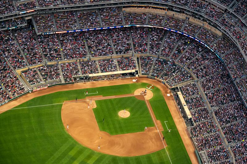 Some MLB owners would reportedly rather not play in 2020. (Photo by Brace Hemmelgarn/Minnesota Twins/Getty Images)