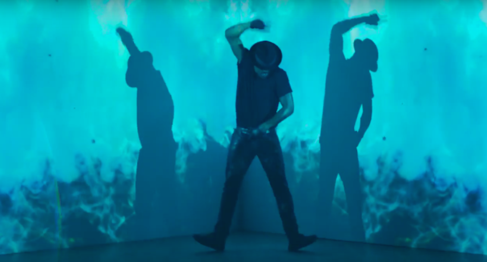 """<p>The actor looked glorious showing off his moves in Macklemore's video for """"Dance Off."""" <i>(Photo: <a href=""""https://www.youtube.com/watch?v=Z9LAzNMn8Ow"""" rel=""""nofollow noopener"""" target=""""_blank"""" data-ylk=""""slk:Ryan Lewis YouTube"""" class=""""link rapid-noclick-resp"""">Ryan Lewis YouTube</a>)</i></p>"""