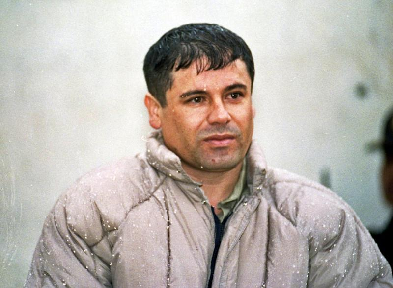 "FILE  - In this June 10, 1993, file photo, Joaquin ""El Chapo"" Guzman, leader of Mexico's Sinaloa cartel, appears for reporters after his arrest at the high security prison of Almoloya de Juarez on the outskirts of Mexico City, from which he later escaped. Alejandrina Gisselle Guzman Salazar, 31, was arrested Friday, Oct. 12, 2012, at San Diego's San Ysidro port of entry and charged with fraud and misuse of visas, permits and other documents. Two U.S. officials said Monday, Oct. 15, that she told authorities her father was Joaquin ""El Chapo"" Guzman. The officials spoke on condition of anonymity because they were not authorized to discuss the arrest publicly. (AP Photo/Damian Dovarganes, File)"