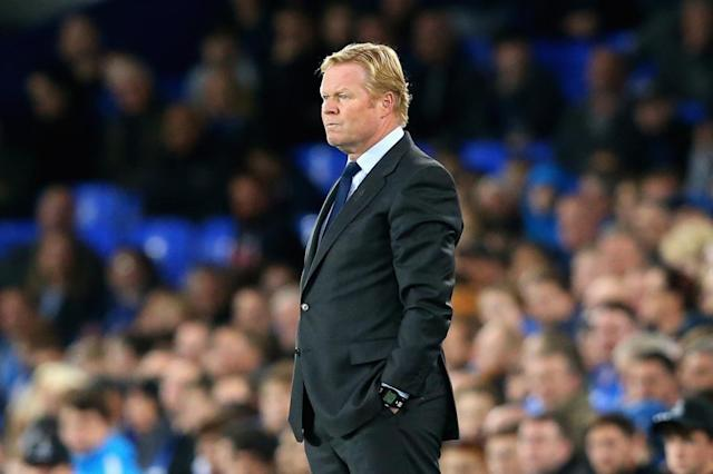 Everton boss Ronald Koeman admits his side 'are scared to play football' after Europa League draw