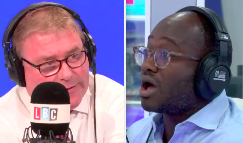 Mark Francois (right) criticised former Tory Sam Gyimah for defecting to the Lib Dems (LBC)