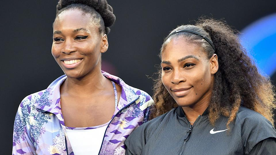 Venus and Serena Williams, pictured here at the Australian Open in 2017.