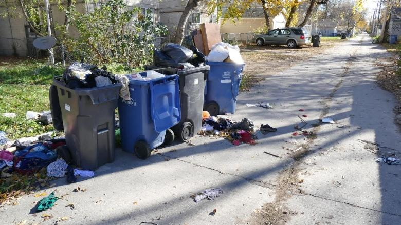 North End homeowner fed up with garbage piles in back lanes