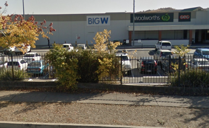 Picture of Tamworth Big W on Oxley Street, where police were called after reports of an alleged assault