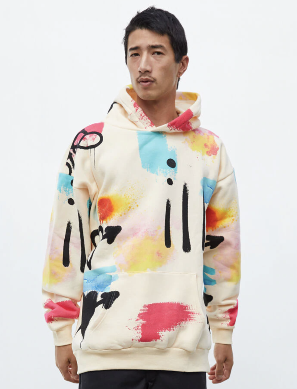 """<p><strong>PacSun</strong></p><p>pacsun.com</p><p><strong>$49.95</strong></p><p><a href=""""https://go.redirectingat.com?id=74968X1596630&url=https%3A%2F%2Fwww.pacsun.com%2Fpacsun%2Fscrap-art-hoodie-0389221.html&sref=https%3A%2F%2Fwww.seventeen.com%2Flove%2Fdating-advice%2Fg30107520%2Fone-year-anniversary-gifts-for-him-boyfriend%2F"""" rel=""""nofollow noopener"""" target=""""_blank"""" data-ylk=""""slk:Shop Now"""" class=""""link rapid-noclick-resp"""">Shop Now</a></p><p>Buy this abstract pullover for him, then steal it for yourself. Everyone wins!</p>"""