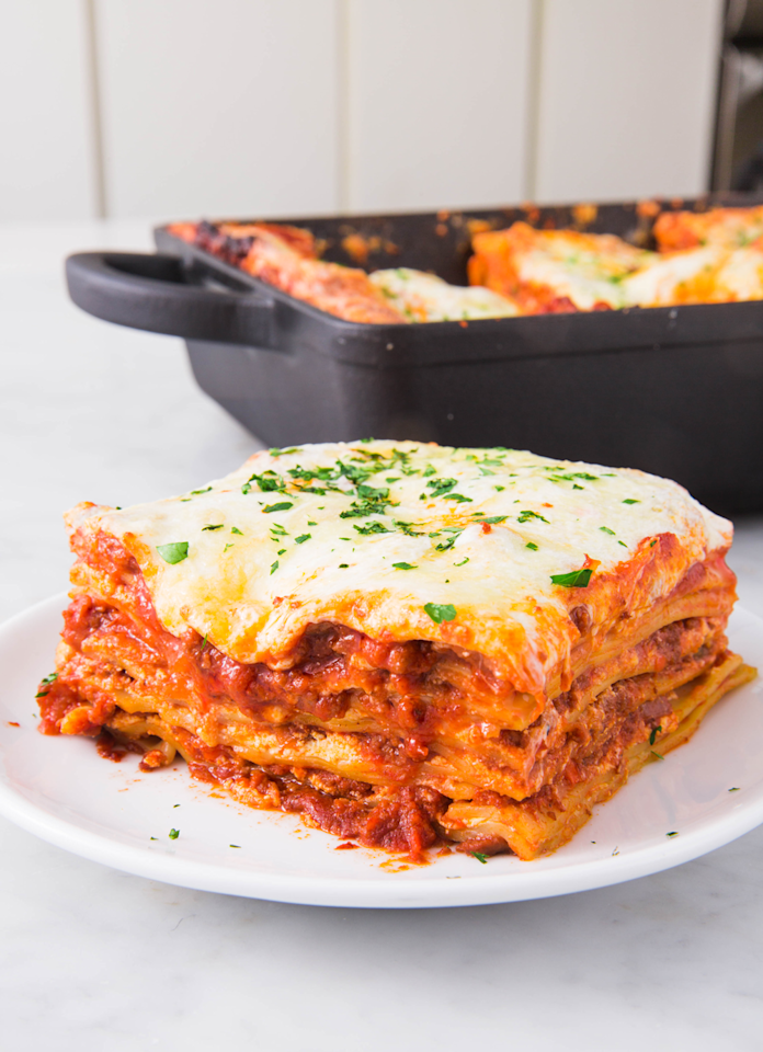 "<p>Layers upon layers of delicious bolognese. </p><p>Get the recipe from <a rel=""nofollow"" href=""https://www.delish.com/cooking/recipe-ideas/a24684549/lasagna-bolognese-recipe/"">Delish</a>. </p>"