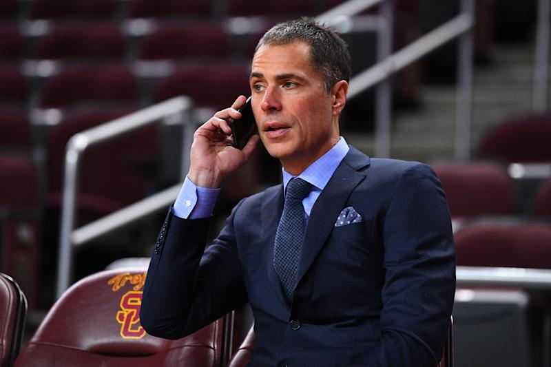 Lakers general manager Rob Pelinka found a taker for his salary cap scraps. (Getty Images)