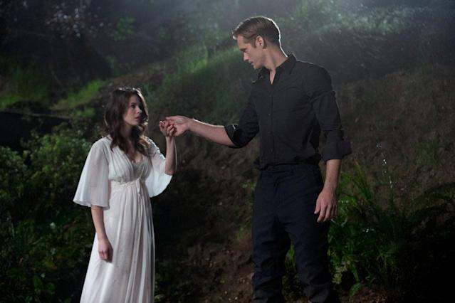 "Amelia Rose Blaire and Alexander Skarsgard in the ""True Blood"" episode, ""At Last."""