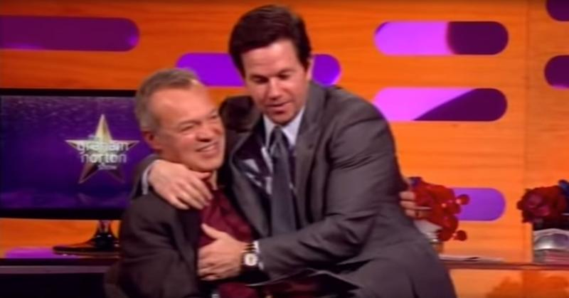 Mark Wahlberg cosies up to Graham Norton on the show in 2013. (Photo: YouTube)