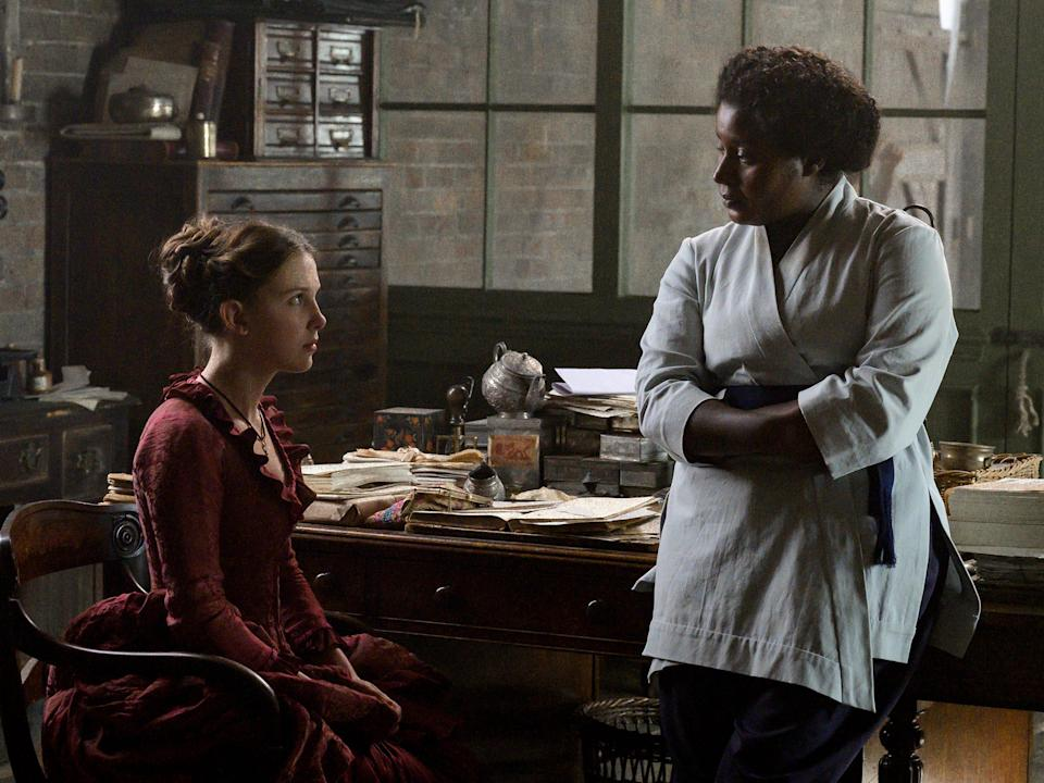 Millie Bobby Brown and Susan Wokoma in Netflix's 'Enola Holmes'Alex Bailey/Legendary