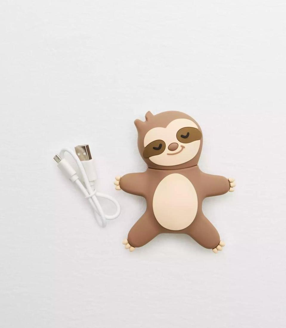 <p>This <span>Zoofy Sleepy Sloth Power Bank</span> ($20) is so cute and useful.</p>
