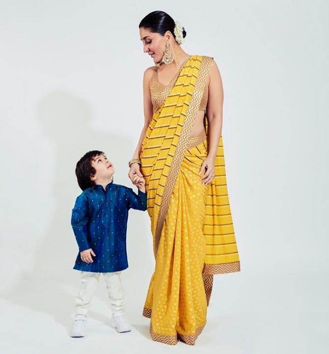 Kareena Kapoor Khan and Taimur Ali Khan