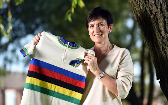 Mandy Bishop is the only British woman to have won the World Road Race Championship on home soil - Guzelian Ltd