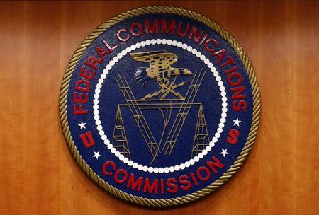 FILE PHOTO: The Federal Communications Commission (FCC) logo is seen in Washington February 26, 2015. REUTERS/Yuri Gripas