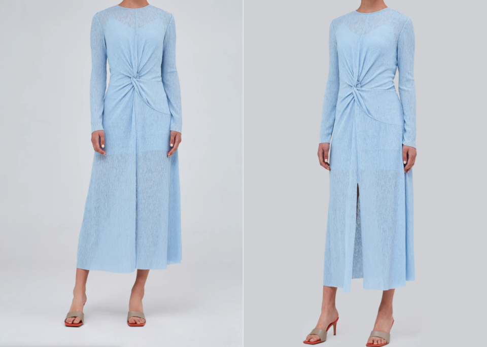 C/MEO Collective Infuse Dress in baby blue.