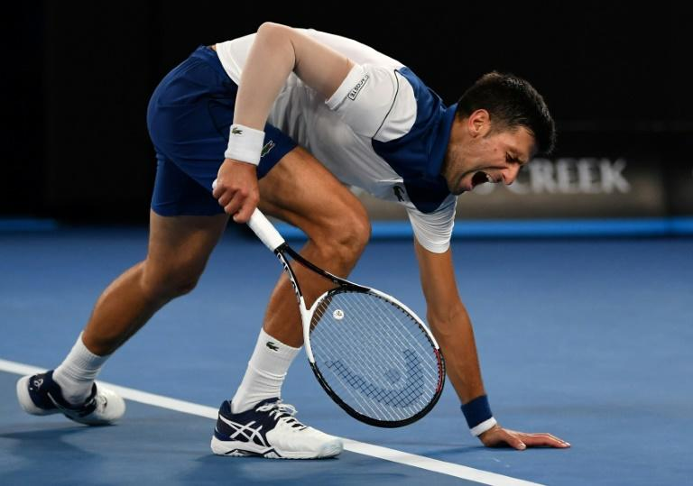 Pain barrier: Novak Djokovic is believed to have travelled to the Czech Republic for the procedure on his elbow