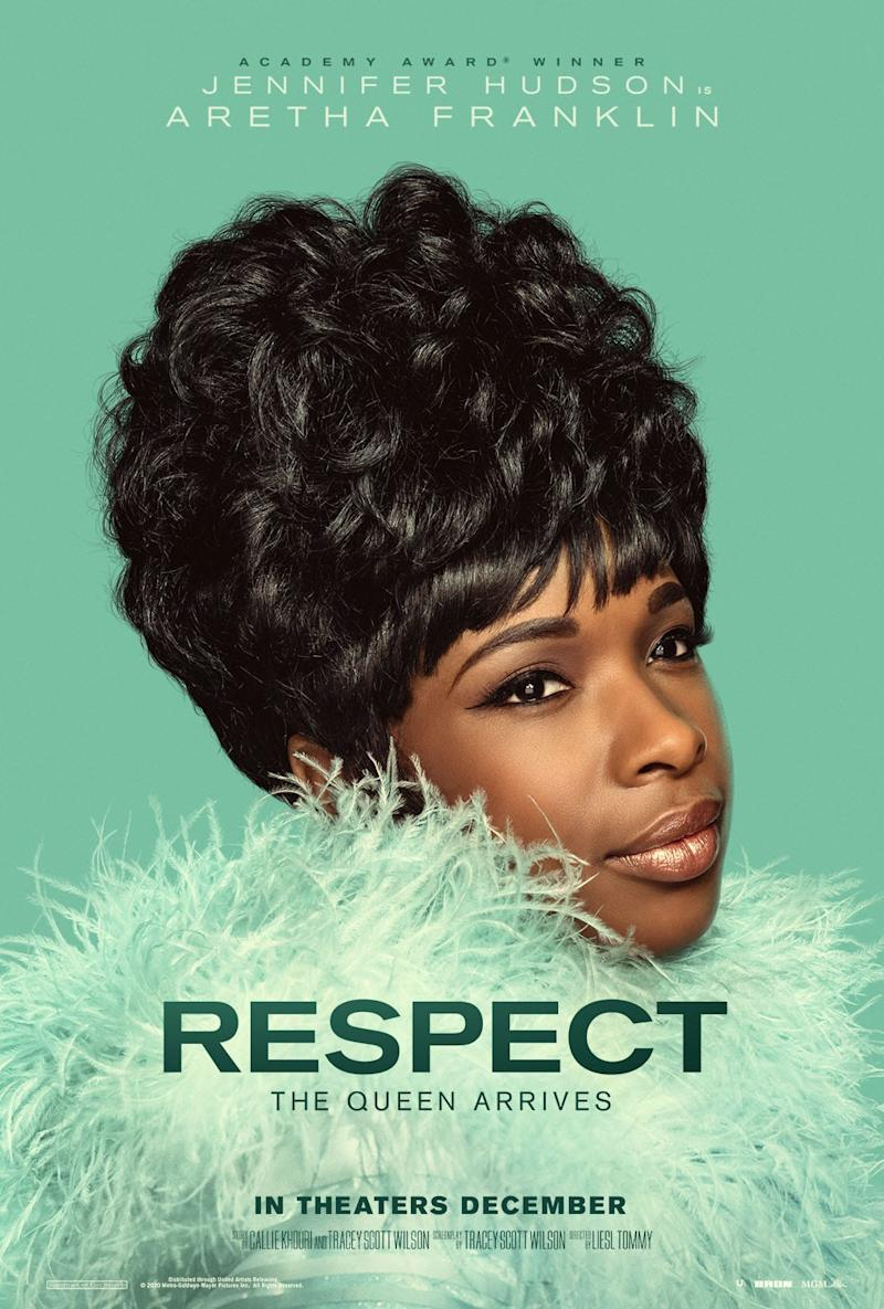 "Official movie poster for ""Respect,"" the forthcoming Aretha Franklin biopic starring Jennifer Hudson."