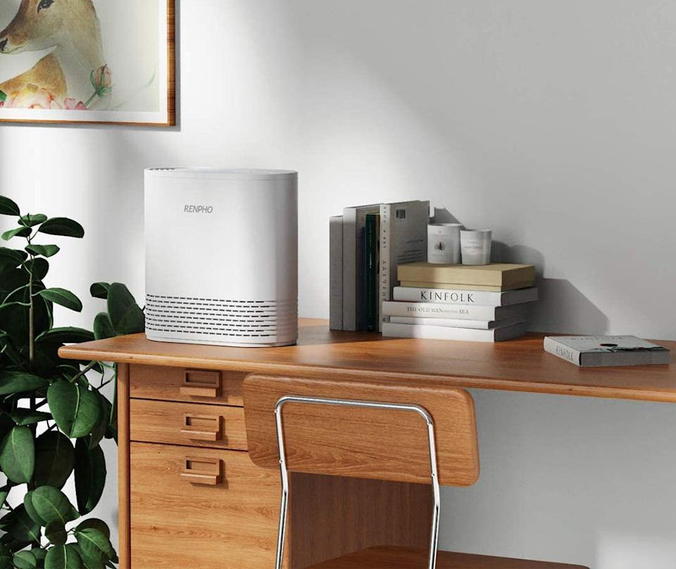 Save big on air purifiers of all shapes and sizes, including this Renpho model. (Photo: Amazon)